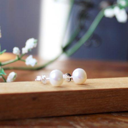Pendientes perla 3 tamaños