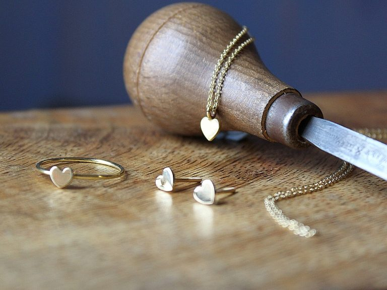 Colgante Cor oro perla