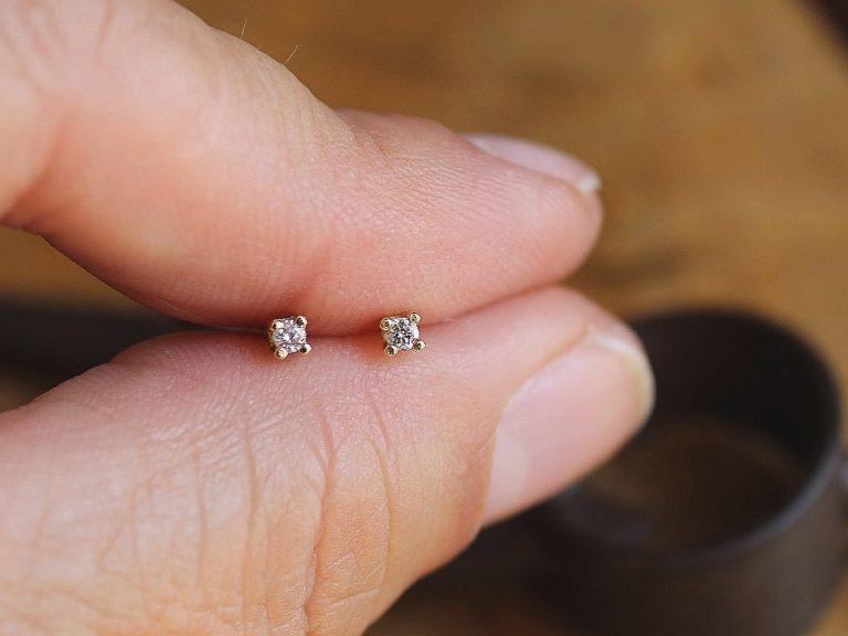 Pendiente Juliette Oro y Diamante
