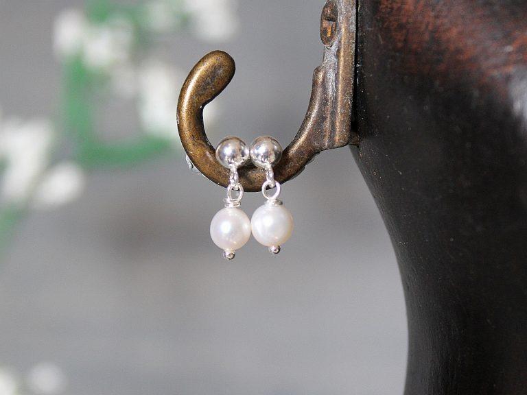 Pendientes Camile perla