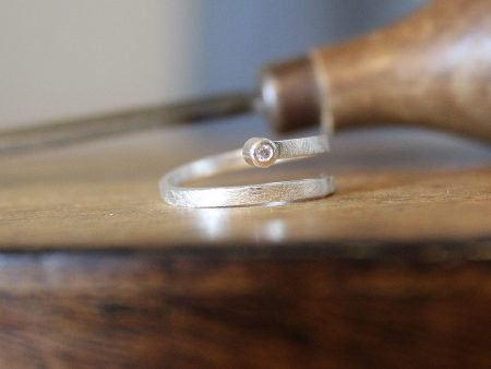 Anillo Aura Plata y Diamante