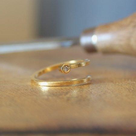 Anillo Aura Oro y Diamante