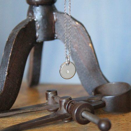 Colgante Mirror pequeño con cadena