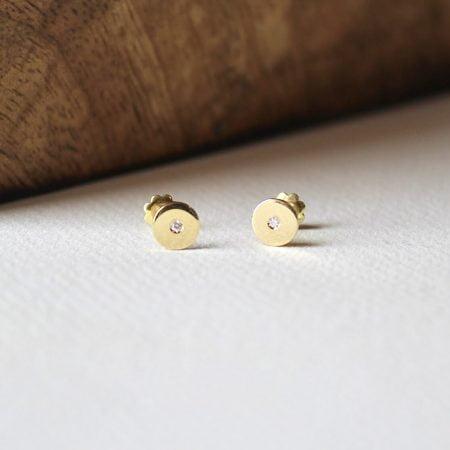 Pendientes Dúnia Oro y Diamante