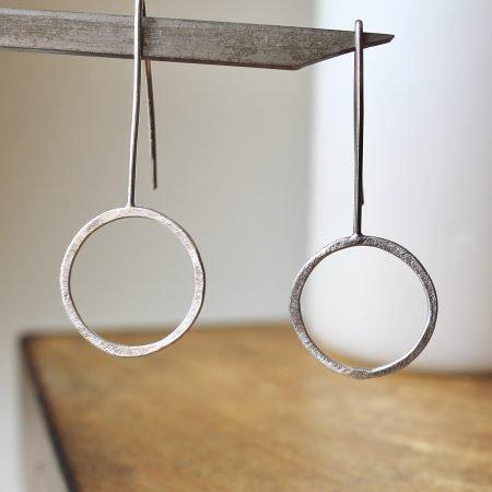 Pendientes Círculo plata