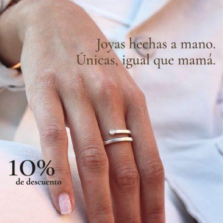 Anillo Aura Plata y Diamante (Día de la Madre)